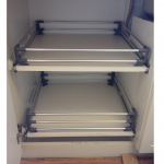 2 drawer pull out for under counters