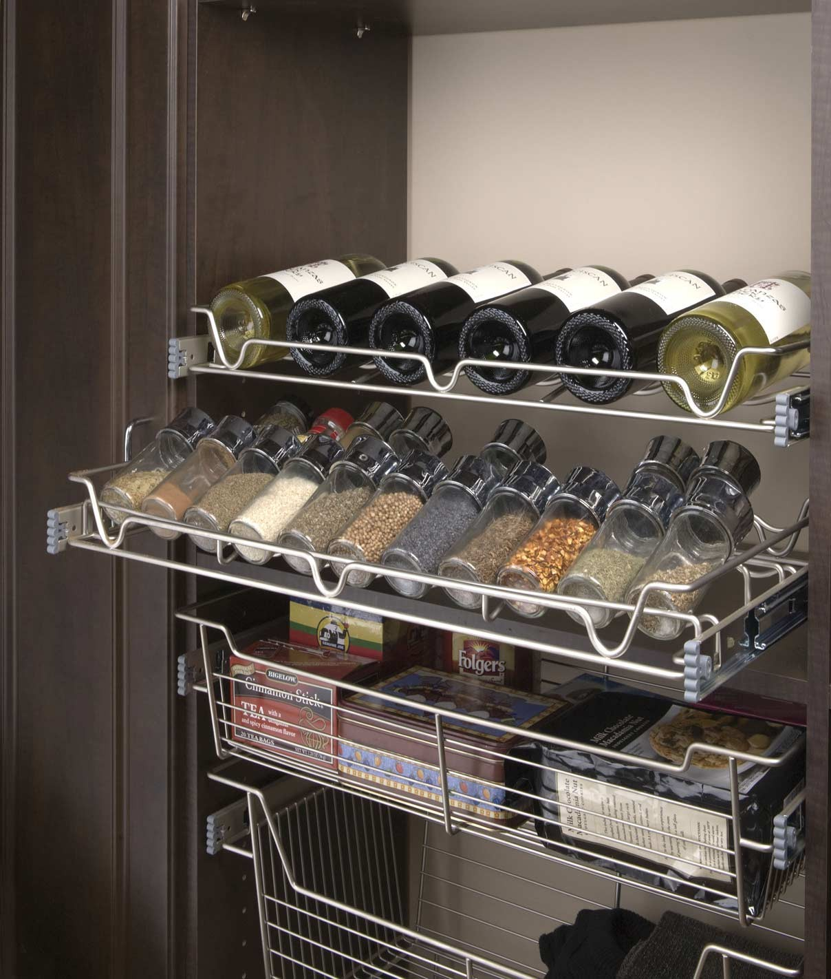 Space Age Shelving is a cut above We custom cut truly adjustable wire shelving, closet and under cabinet pullouts.
