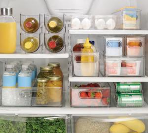 fridge and freeze bins