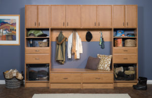 mudroom storage and organization