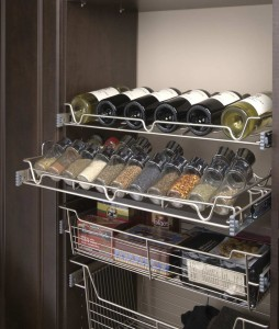 Copy of Satin Nickel Slide Out Wine-Spice-Baskets-SL