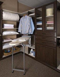 Deluxe Iron Board-Valet Rod-Chocolate Pear Closet in Premier - Copy
