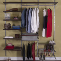 wire shelving silver walnut fascia