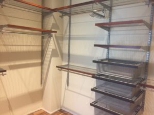 combination hanging and flat storage