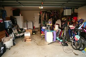messy cluttered garage