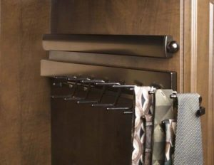 Oil Rubbed Bronze Valet Rod and Tie Rack with Ties