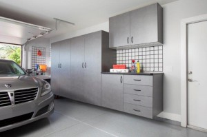 Pewter Cabinets with Workbench-Grey Car 2012