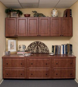 Warm Cognac Raised Panel Credensa with Uppers-Farca