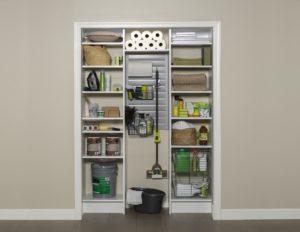 organized reach in closet