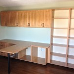 custom melamine home office workspace and storage system