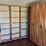 custom melamine home office bookshelf and storage closet