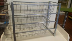 storage and organizing wire baskets from Space Age Shelving